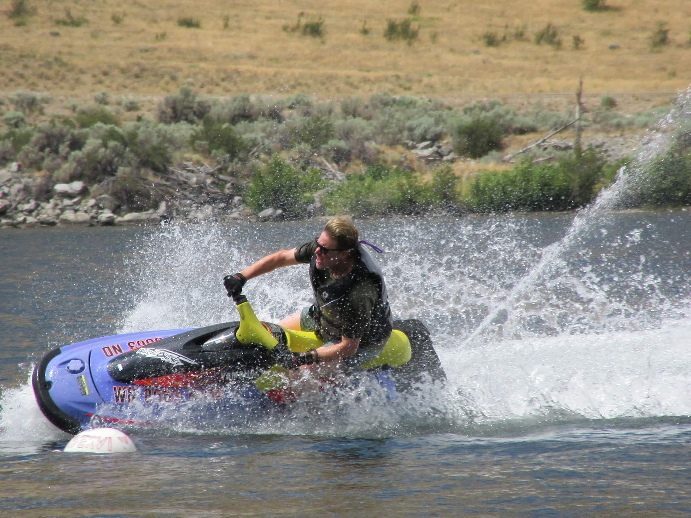 Dr. Chris Pickel on the Columbia River