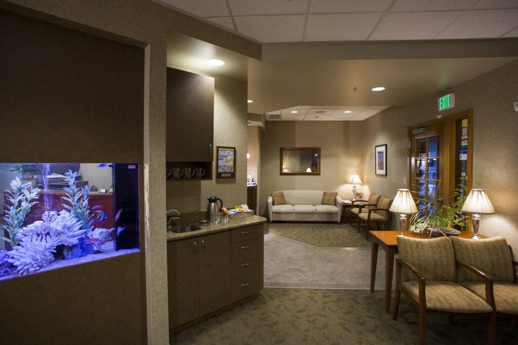 Lobby at North Seattle Dental
