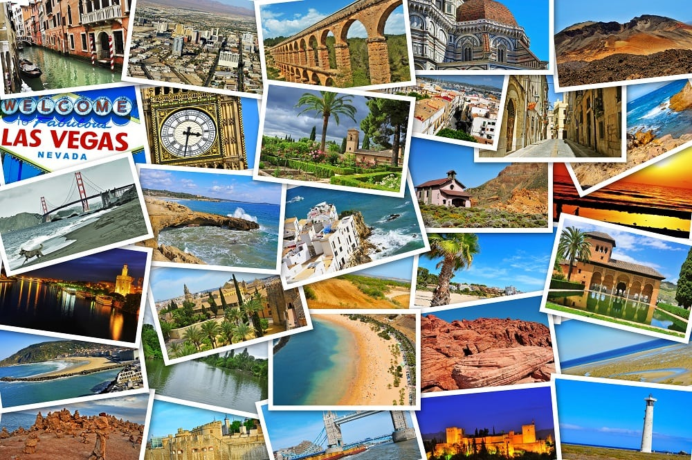 Summer Vacation Postcard Travels