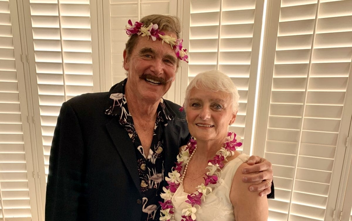 Renee with her husband after Invisalign